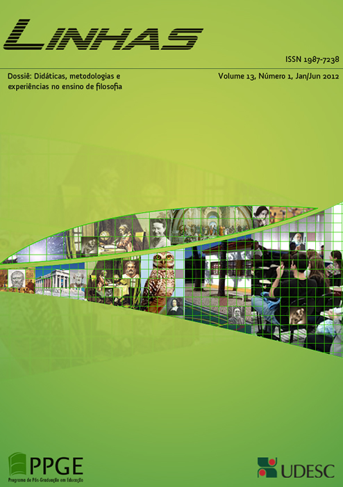 Visualizar v. 13 n. 1 (2012): Dossiê: didáticas, metodologias e experiências no Ensino de Filosofia