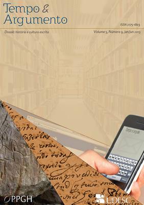 Visualizar v. 5 n. 9 (2013): História e Cultura Escrita